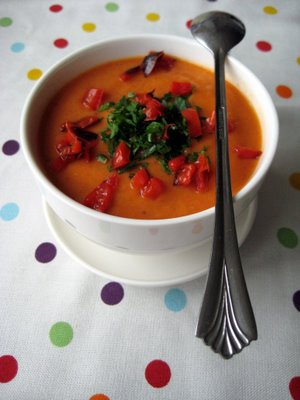 Roasted Red Pepper &amp; Cauliflower Soup
