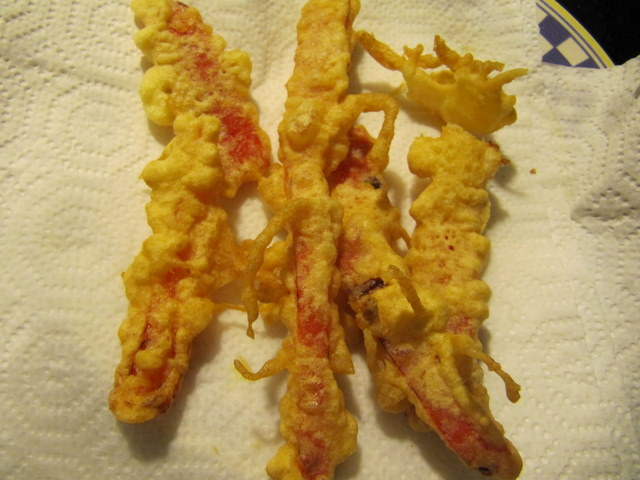 Re-imagined Red Pepper Tempura with Smoky Garlic Aioli