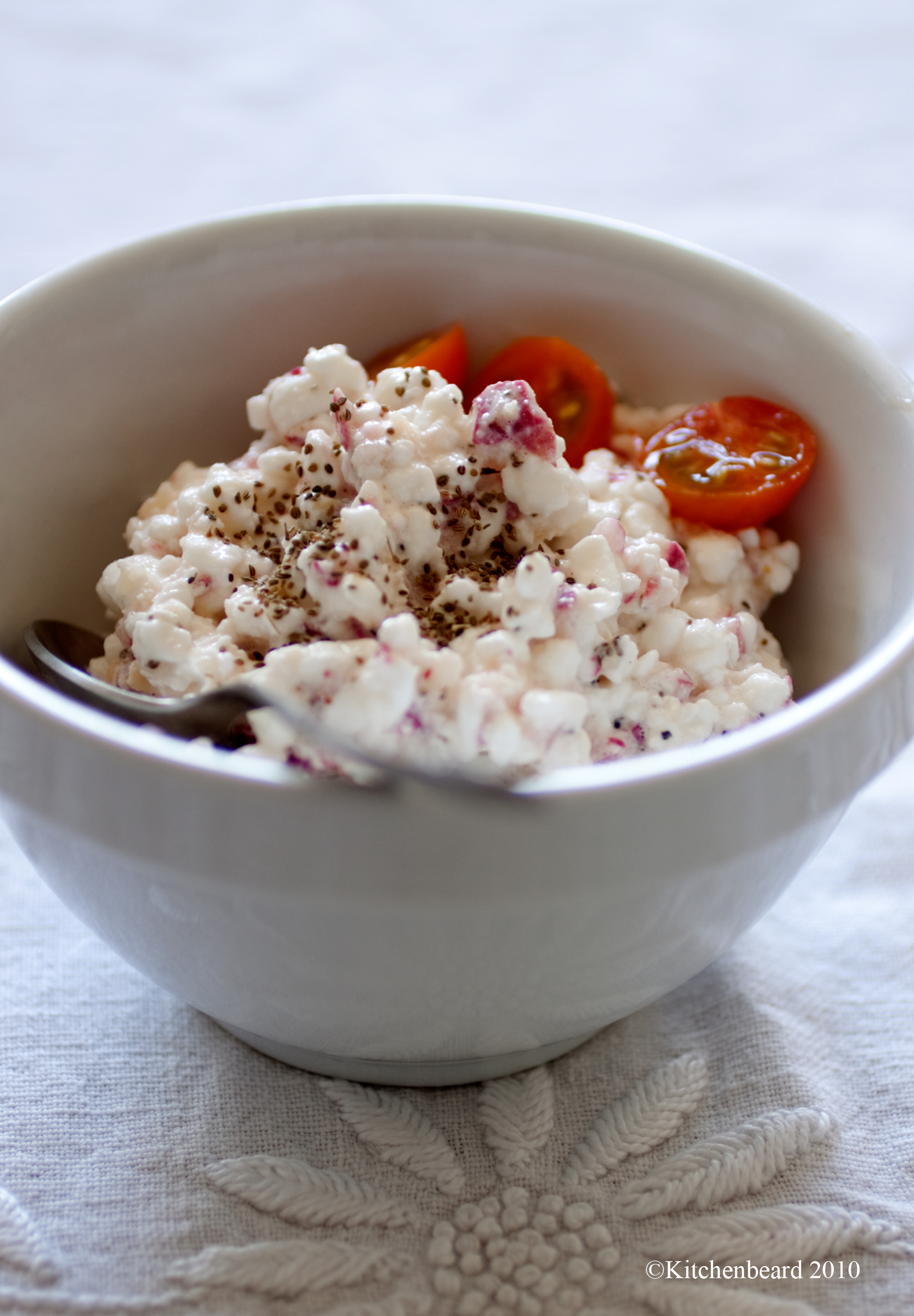 Cottage cheese and Radish Salad