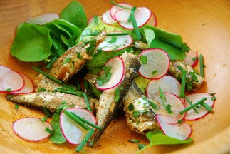 Sardine, Avocado and Radish Salad with Upland Cress