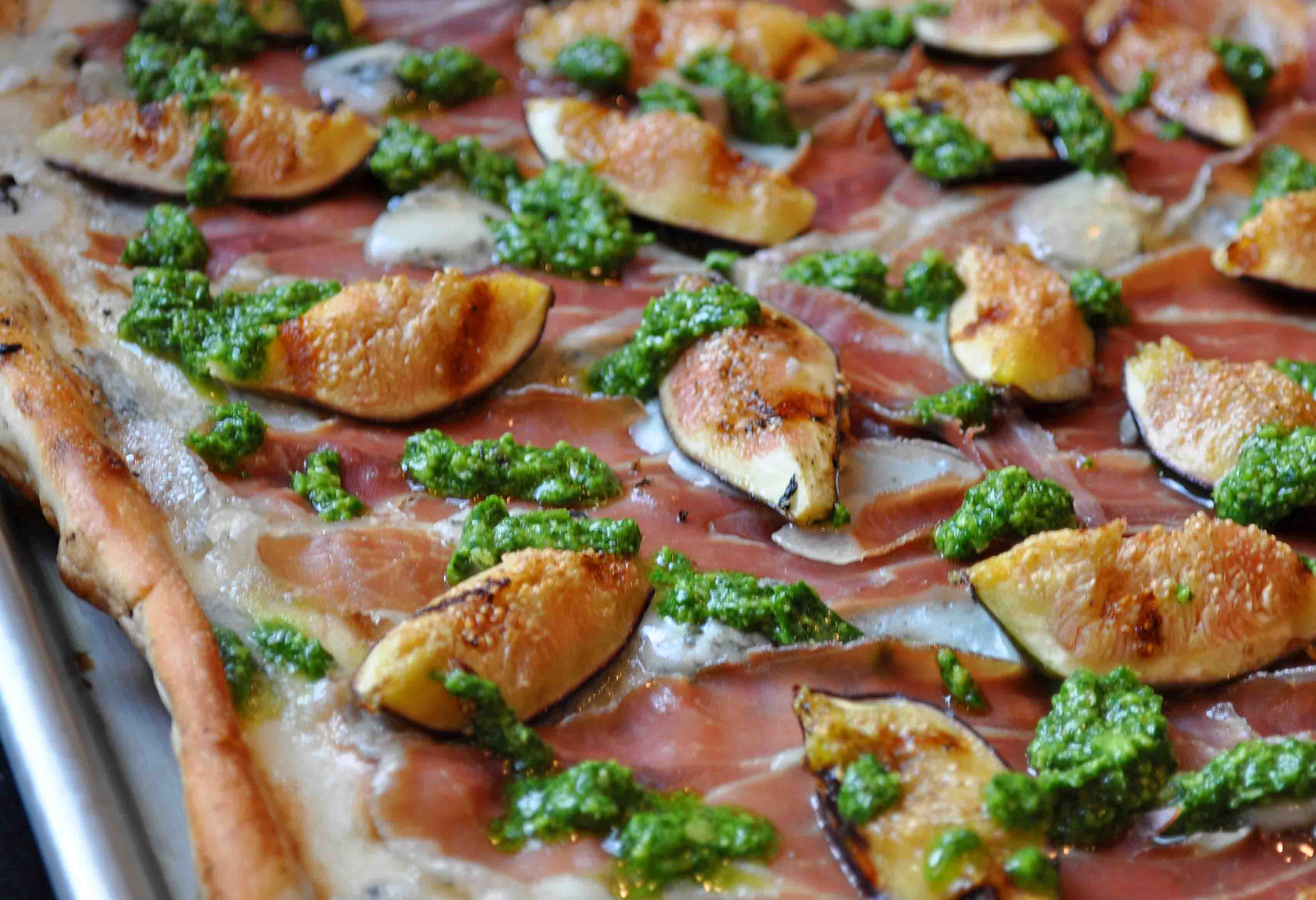 Pizza Bianca With Prosciutto And Fig Recipes — Dishmaps