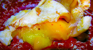 Fall peach harvest pie with a twist