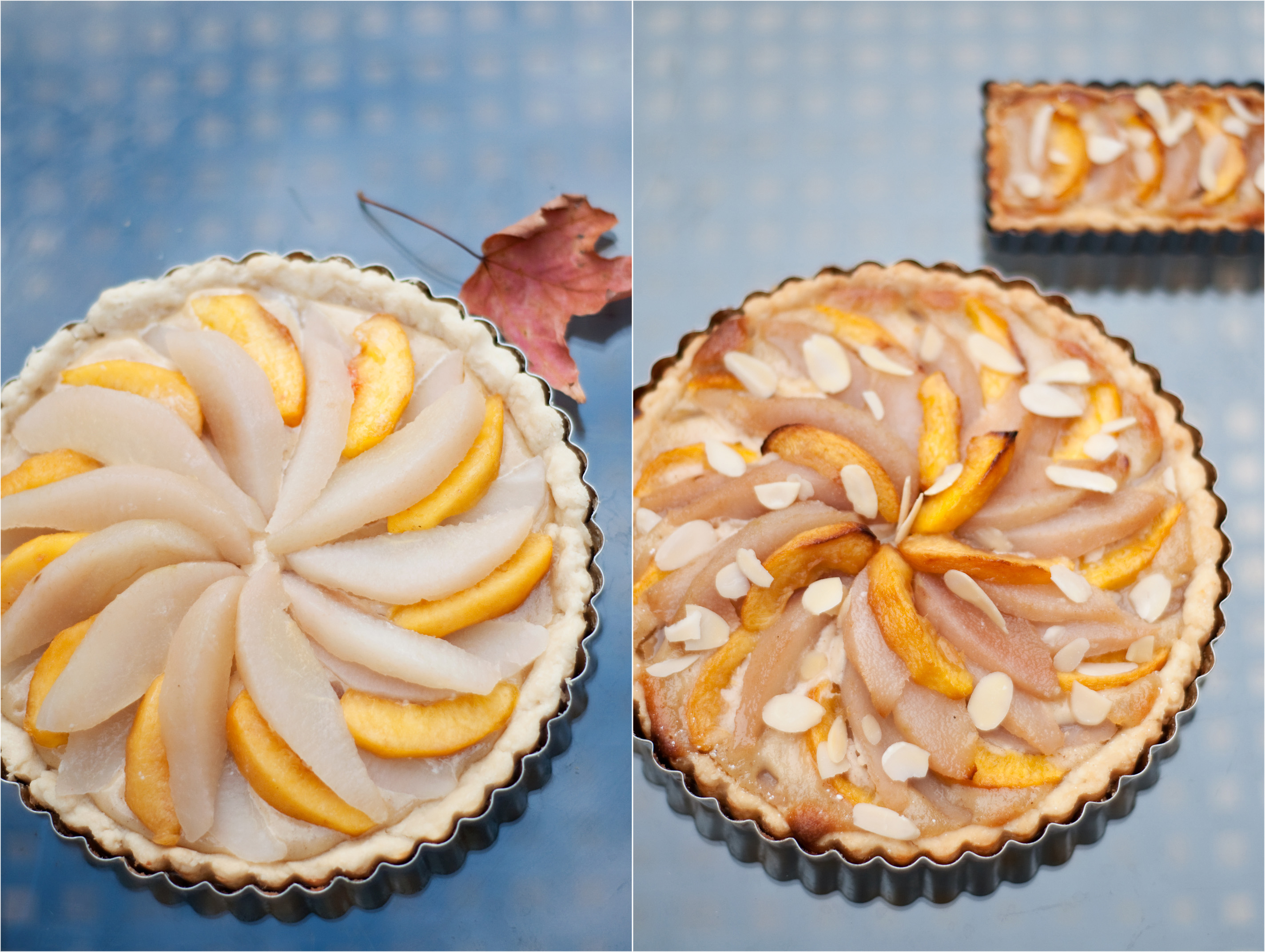 Amaretto Peach and Pear Pie