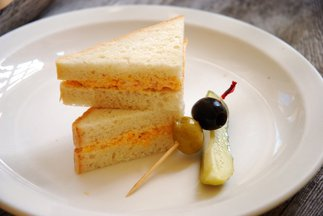 Pimento Cheese Sandwiches on White Bread