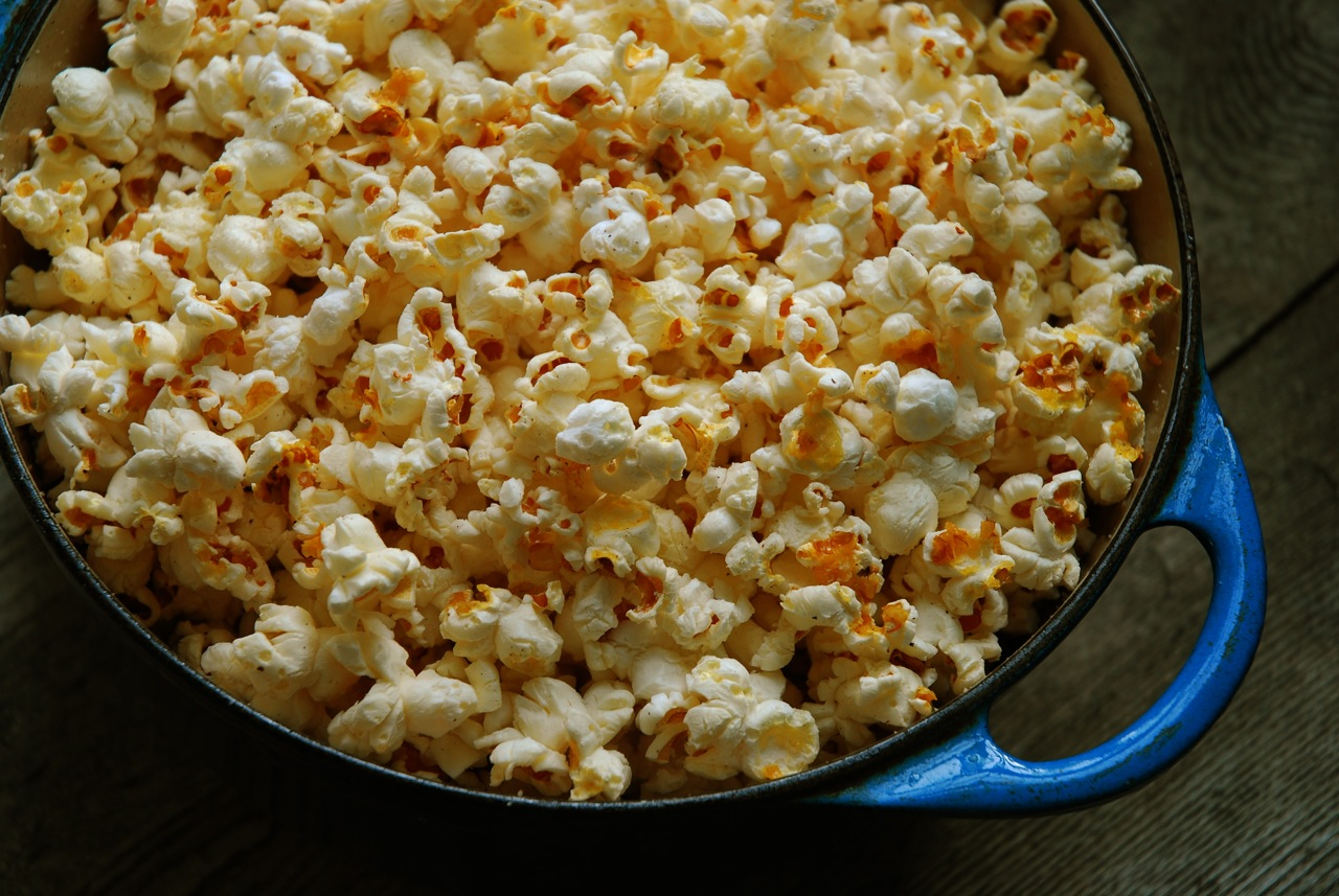 Popcorn Popped in Bacon Fat