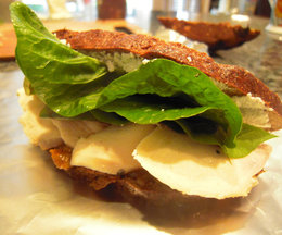 Chicken, Goat Cheese &amp; Chutney on Pumpernickel