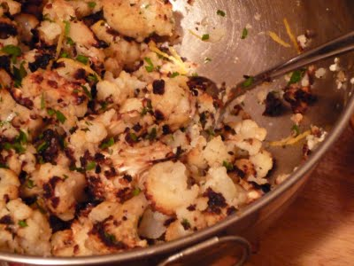 Spicy Roasted Cauliflower with Lemon