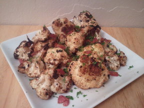 Cauliflower with black garlic and sherry
