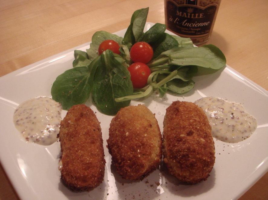 Chicken Mustard Croquettes