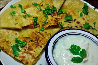Spicy Cauliflower stuffed Paratha