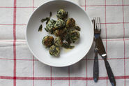 Ricotta and Spinach Gnudi with Sage and Parsley