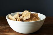 Crispy Rye and Seed Crackers