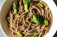 A Spring Soba Noodle Salad -- Plus a Lesson in Favas