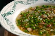 Spring Pea and Farro Soup (+ Tom's 6 Soup Rules)