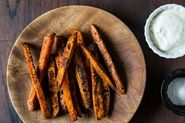 White Bean Soup + Spiced Sweet Potato Fries