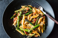 Pasta con Asparagi + Old Fashioned