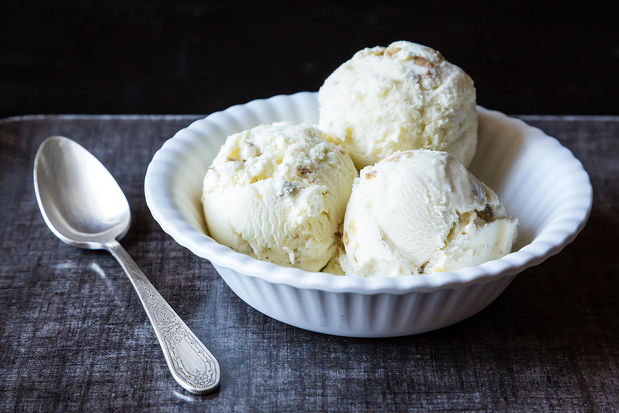 Oatmeal Ice Cream with Toasted Walnuts on Food52