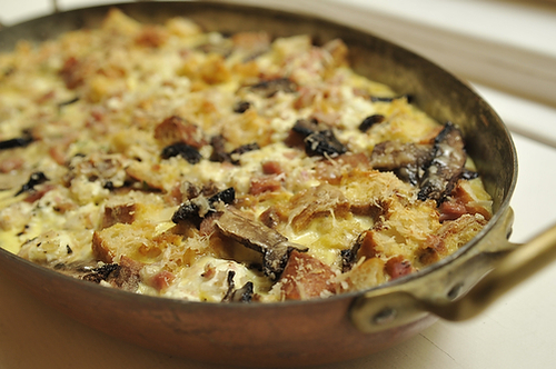 Savory Bread Pudding Recipe — Dishmaps