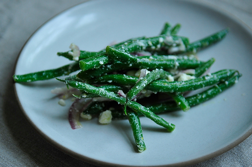 Lemony Green Bean Salad with Feta, Red Onion, and Marjoram Recipe on ...