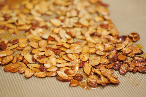 Perfectly toasted slivered almonds.
