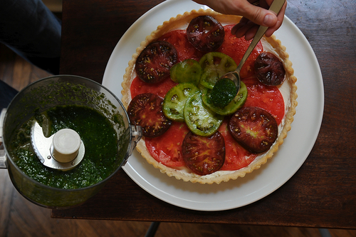 Heirloom Tomato and Lemon Mascarpone Tart