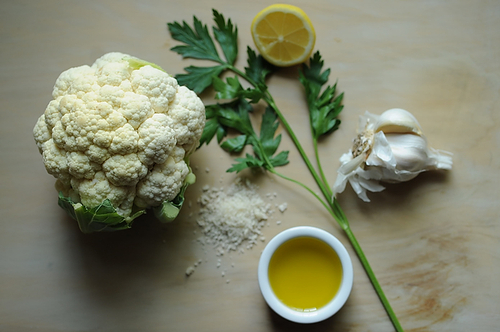 Roasted Cauliflower with Gremolata Bread Crumbs