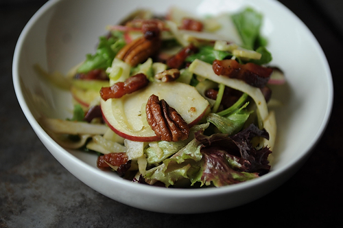Salad with Caramelized Apple Vinaigrette