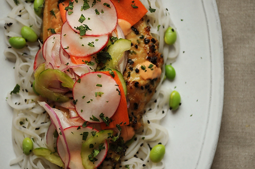 Vietnamese-Inspired Sweet &amp; Spicy Catfish with Pickled Vegetables 