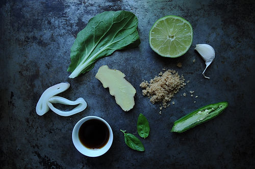 Quick Wok-Fired Squid with Greens