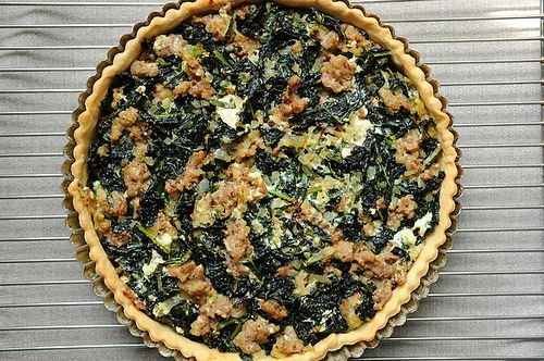 Sausage and Kale Tart on Food52