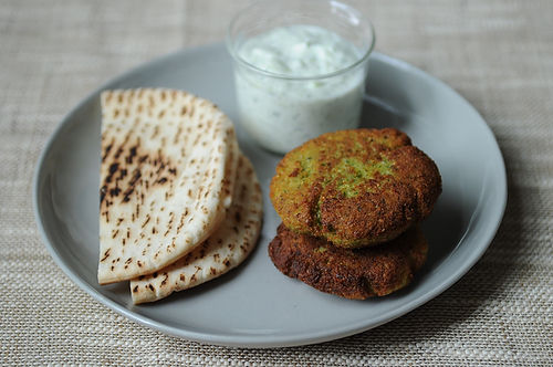 World&#x27;s Easiest Falafel and Tzatziki