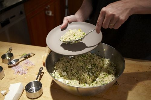 Couscous Salad with Zucchini, Lemon and Ricotta Salata