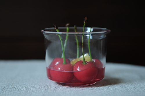 Boozy Sour Cherries