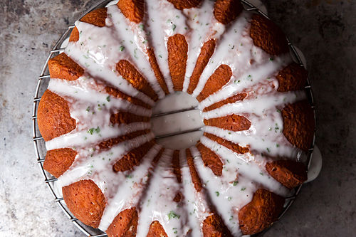 Texas Ruby Red Grapefruit Cake with a Hint of Mint