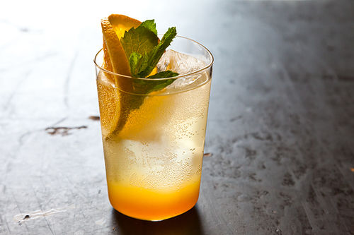 Orange Ginger Mint Soda