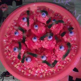 Spooky Halloween popcorn Balls