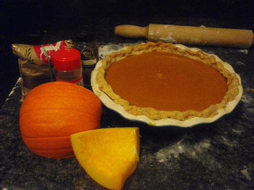 Fresh Pumpkin Puree Pie with Indian Spices