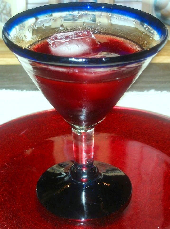 Pomegranate-Cherry VodkaTini