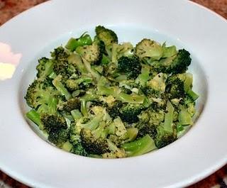 Broccoli with Lime Shallot Dressing