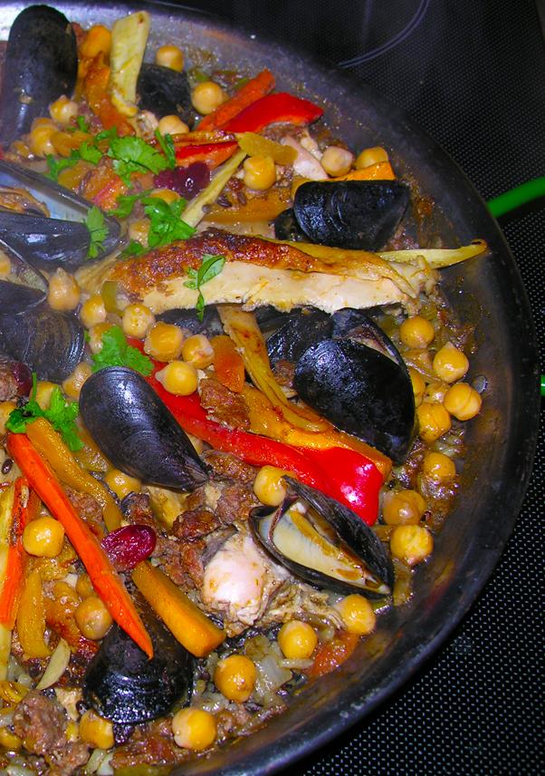 Frugal Moroccan Paella