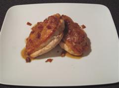 Pan Roasted Chicken Breast with Dijon Sauce and Crispy Pancetta