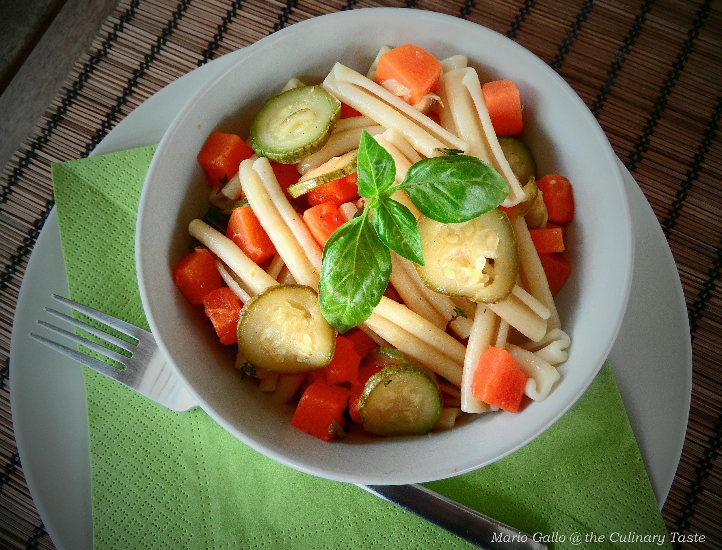 Squash and Zucchini Casarecce