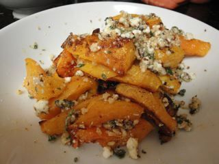 Caramelized Butternut Squash Wedges with a Sage Hazelnut Pesto