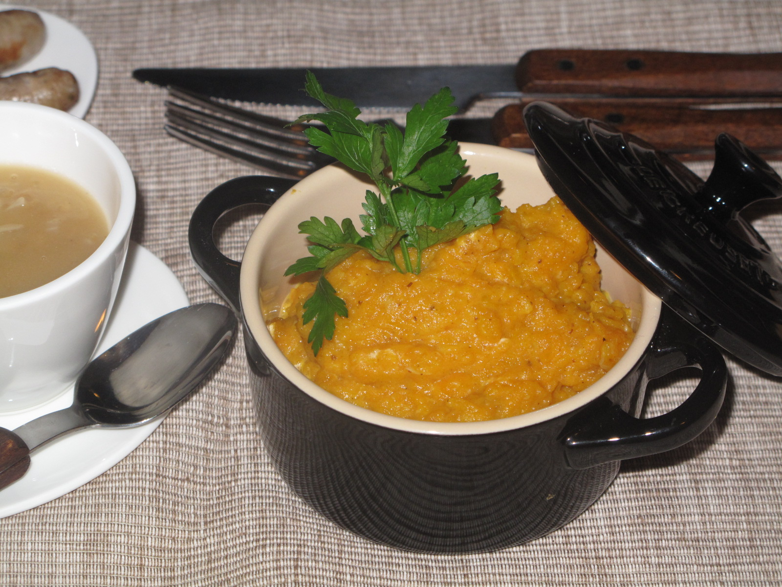 Cumin-scented puree of  Autumn 'oranges'