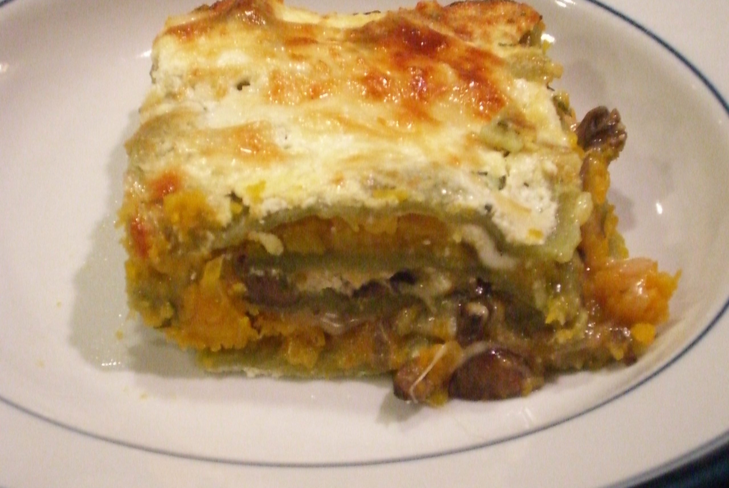 Roasted Butternut Squash Lasagne