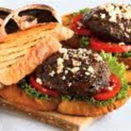 Sweet Chili & Tomato Conserve Burger with Portobello Mushrooms