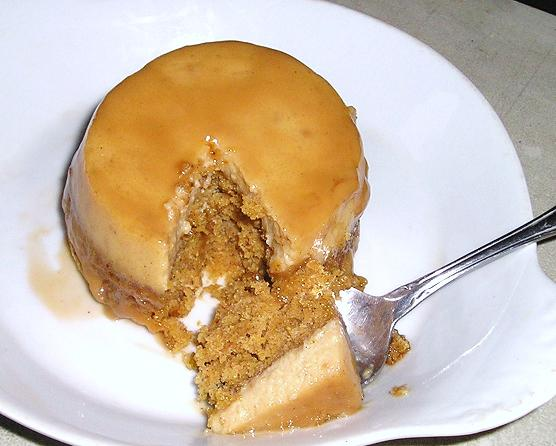 Impossible Pumpkin Chai Flan Cake