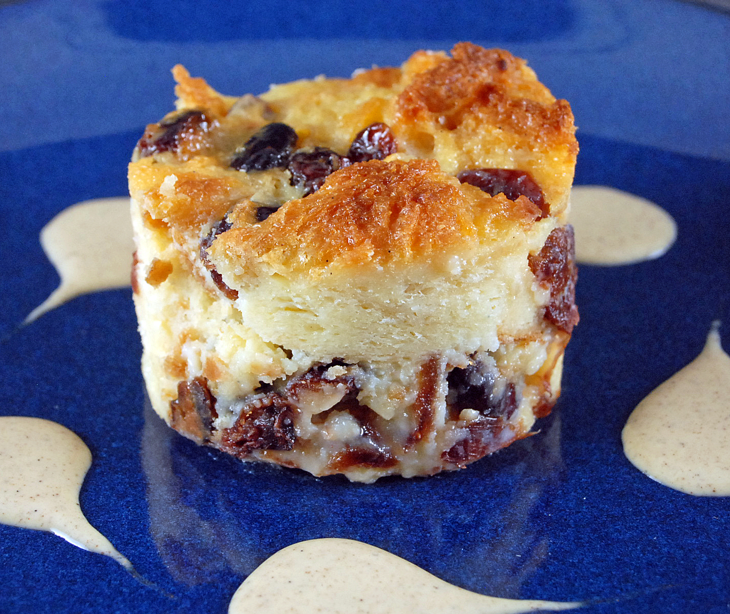 Cranberry Bread Pudding with Pumpkin Spiced Creme Anglaise Recipe on ...