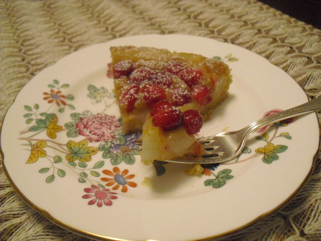 Pear-Cranberry Upside Down Cake