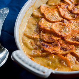 Sweet Potato Gratin with Smoked Paprika and Cayenne